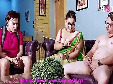 Indian hot MILF crazy gangbang porn